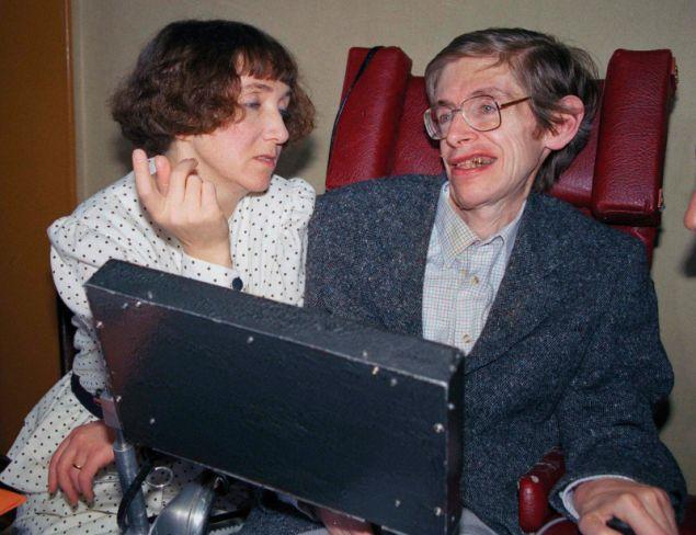Ο Στίβεν Χόκινγκ με την πρώτη σύζυγό του, Τζέιν