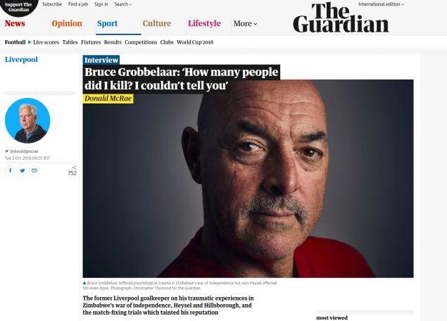 Η συνέντευξη του στον Guardian
