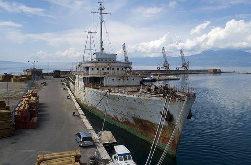 Το Galeb σκουριάζει στη Ριέκα/ Φωτογραφία: AP