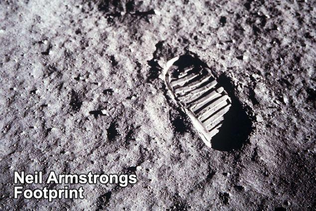 Το αποτύπωμα του Άρμστρονγκ στη Σελήνη