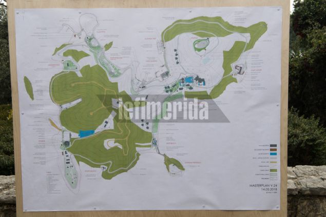 To σχέδιο ανάπλασης περιλαμβάνει main complex με 7 VIP σουίτες και 12 βίλες