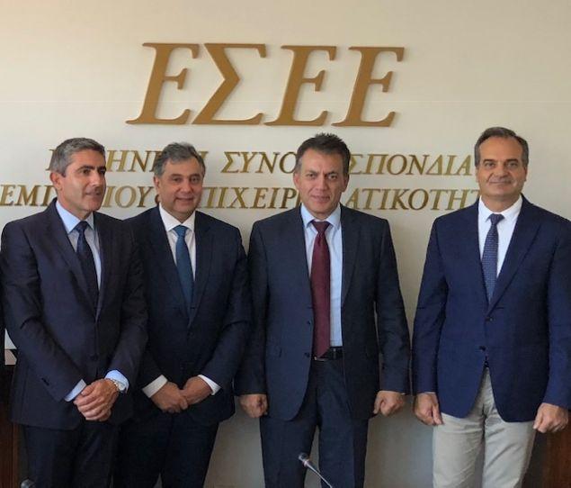 Από τη συνάντηση του προεδρείου της ΕΣΕΕ με τους αρμόδιους τομεάρχες Οικονομικών της Νέας Δημοκρατίας