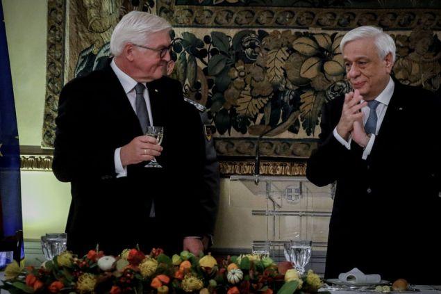 Φρανκ Βάλτερ Σταϊνμάγερ και Προκόπης Παυλόπουλος στο δείπνο στο Προεδρικό Μέγαρο