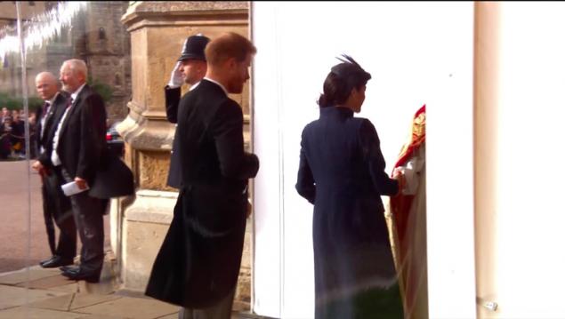 Η Μέγκαν καταφθάνει μετον πρίγκιπα Χάρι
