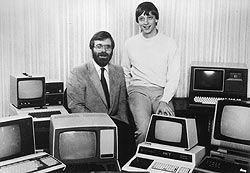 Ο Μπιλ Γκέιτς με τον Πολ Άλεν το 1981