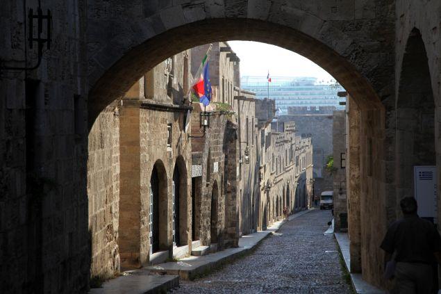 Η Μεσαινική πόλη της Ρόδου/ φωτογραφία: eurokinissi
