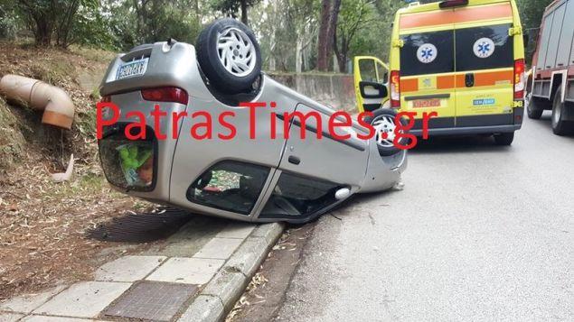 Ο οδηγός ευτυχώς δεν τραυματίστηκε