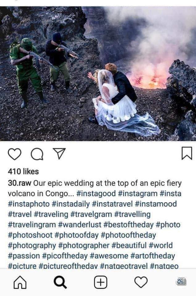 Μία από τις γαμήλιες φωτογραφίες του ζευγαριού