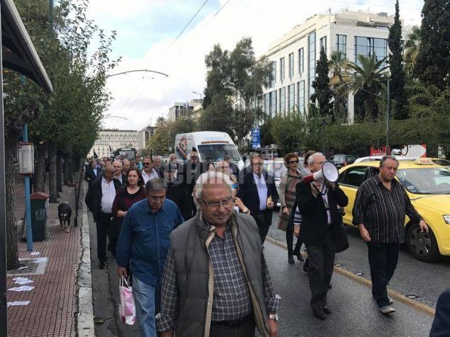 Διαμαρτυρία συνταξιούχων της ΕΤΕ