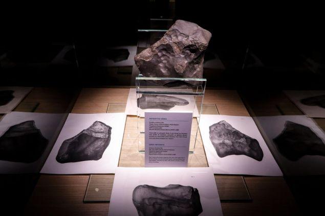 Ο Μετεωρίτης θα βρίσκεται στο Μουσείο Ηρακλειδών στο Θησείο έως τις 11 Νοεμβρίου