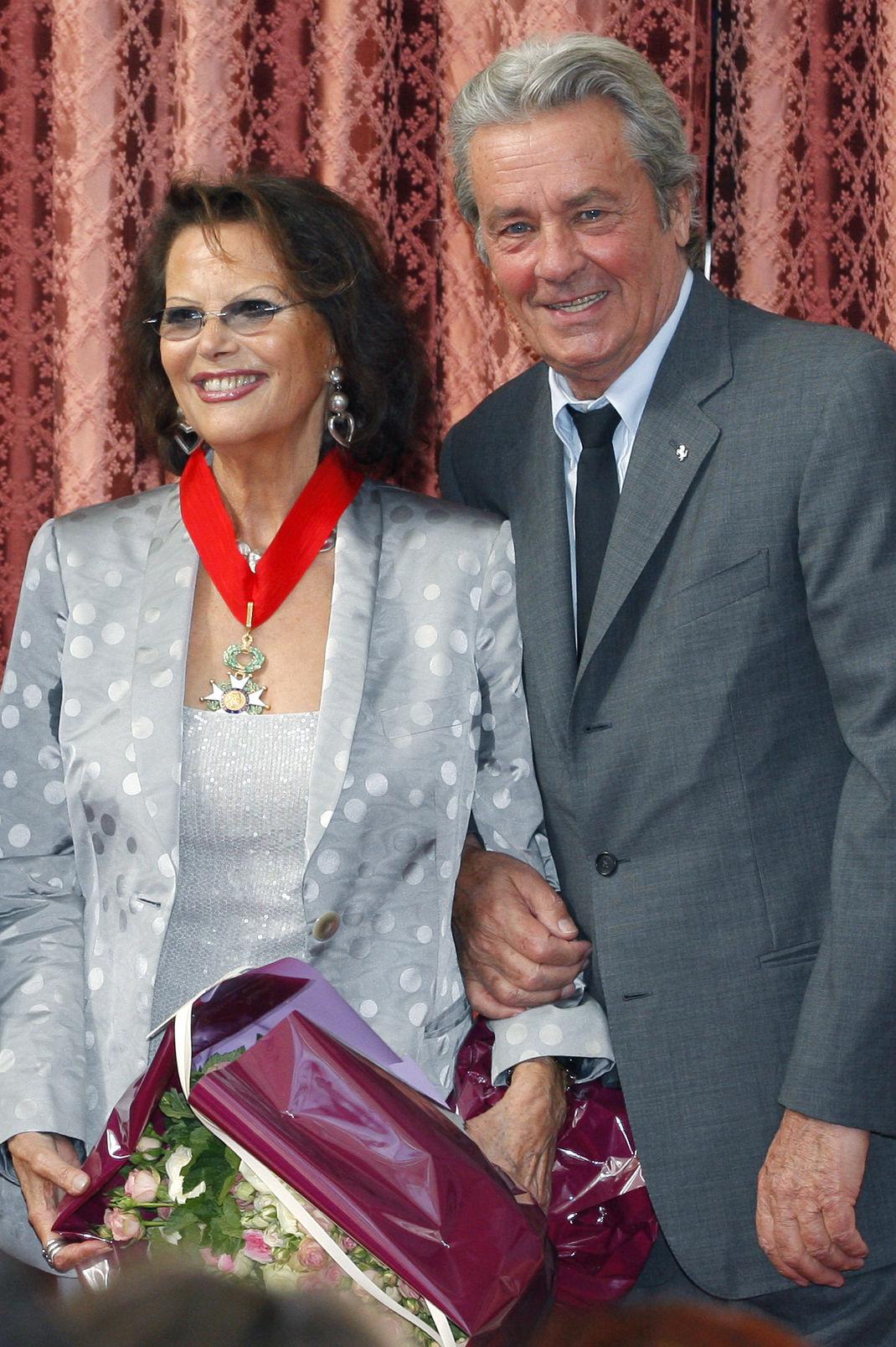 Κλαούντια Καρντινάλε, Αλέν Ντελόν, Ιούλιος 2008/ Φωτογραφία: AP Images