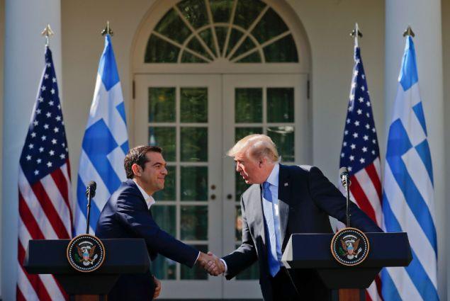 Από τη συνάντηση Τίπρα-Τραμπ στην Ουάσιγκτον τον Οκτώβριο του 2017/Φωτογραφία: AP