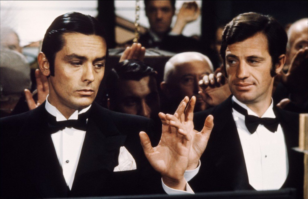 O Aλέν Ντελόν με τον Ζαν Πολ Μπελμοντίο. Φωτογραφία: IMDB