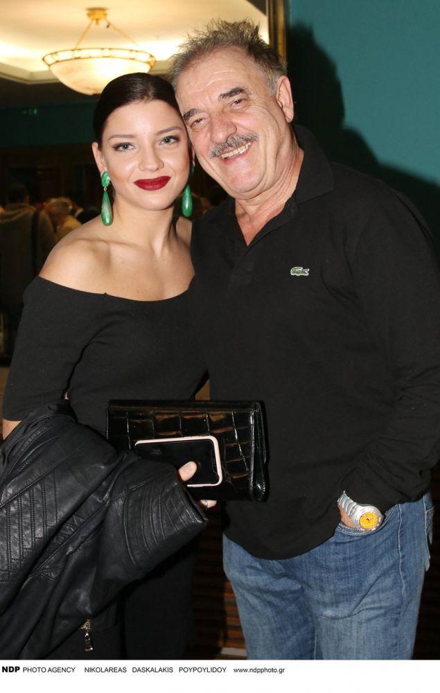 Ο Μιχάλης Μητρούσης με την κόρη του, Μαρίλια