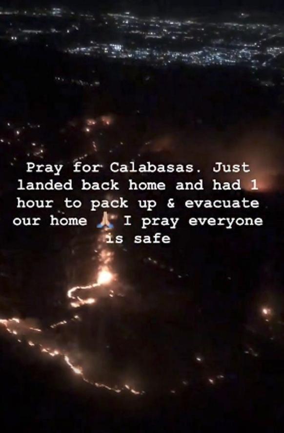 Ζήτησε από τους οπαδούς της να προσευχηθούν για την περιοχή