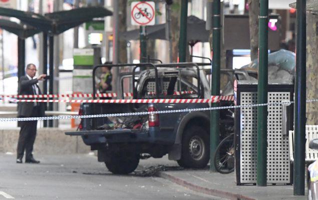 Ο δράστης ήθελε να τινάξει στον αέρα το κέντρο της Μελβούρνης, αφού το αυτοκίνητό του ήταν γεμάτο φιάλος υγραεριόυ (Φωτογραφία: ΑΡ)