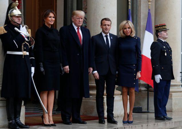 Οι δύο ηγέτες με τις συζύγους τους