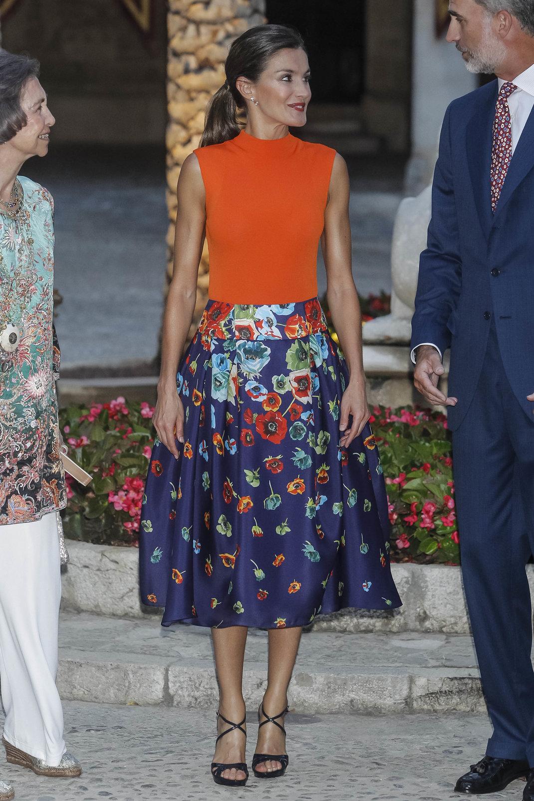 Η Λετίθια της Ισπανίας με Carolina Herrera /Splashnews