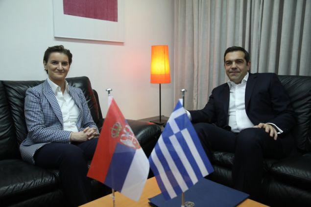 Η Ανα Μπίρναμπιτς & ο Αλέξης Τσίπρας (Φωτογραφία: MOTION TEAM/ ΒΑΣΙΛΗΣ ΒΕΡΒΕΡΙΔΗΣ)