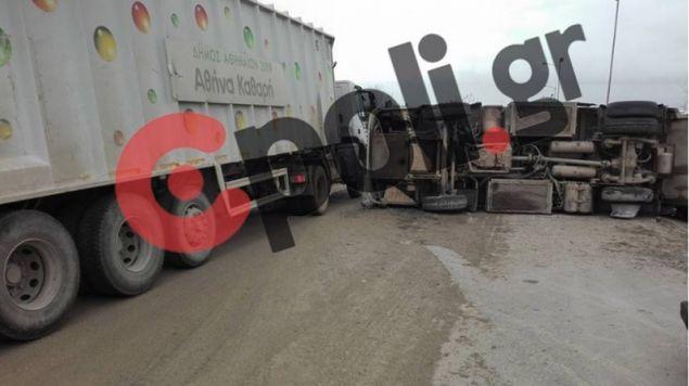 Εικόνα από την στιγμή του ατυχήματος.