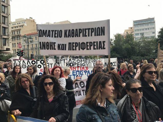 Αυτή τη στιγμή εξετάζουν το ενδεχόμενο να προχωρήσουν σε νέο συλλαλητήριο μέχρι τη Βουλή ή το υπουργείο Οικονομικών.