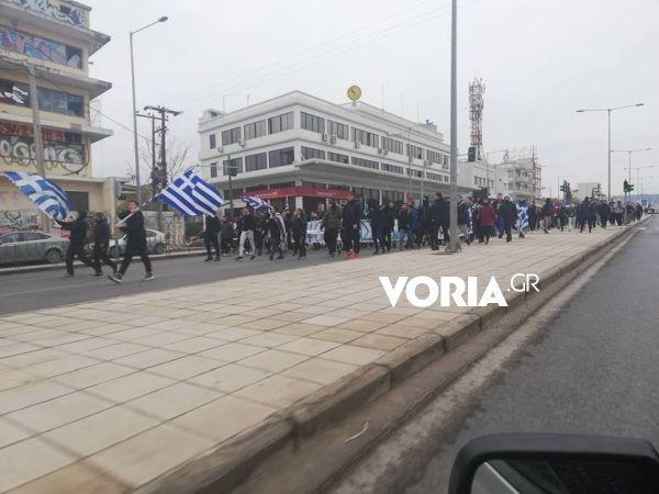 Κλειστη η οδος Λαγκαδά, φωτογραφία: voria.gr
