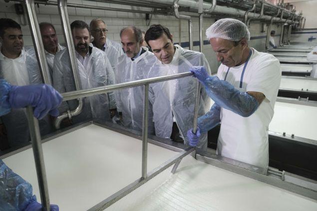Ο κ. Τσίπρας εντυπωσιάστηκε από τον Αγροτικό και Γαλακτοκομικό Συνεταιρισμό Καλαβρύτων