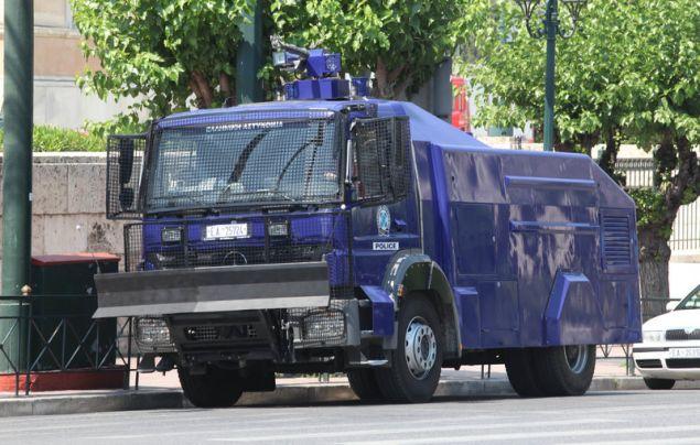 Η ΕΛ.ΑΣ έχει συνολικά τέσσερα υδροβόλα καταστολής / Φωτογραφία: EUROKINISSI