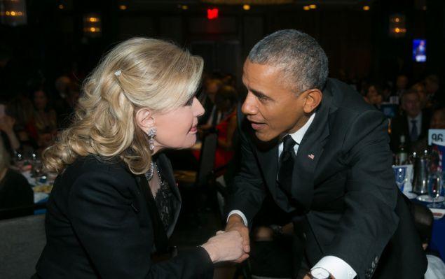 Η Μαριάννα Β. Βαρδινογιάννη με τον Barack Obama