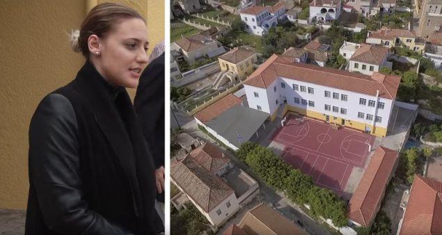 Η Άννα Κορακάκη επισκέφθηκε για πρώτη φορά τις Σπέτσες και το Δημοτικό Σχολείο του νησιού