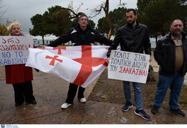 Γεωργιανοί διαμαρτύρονται για νοθεία στις εκλογές στην χώρα τους