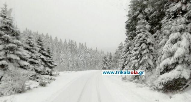 Η πυκνή χιονόπτωση συνεχίστηκε και το πρωί της Τρίτης