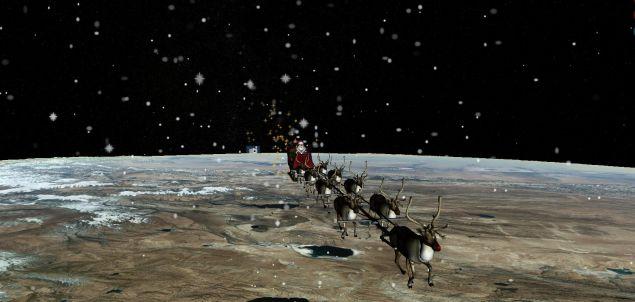 Τα ραντάρ καταγράφουν την πορεία του έλκηθρου χάρη στους υπέρυθρους αισθητήρες που έχει στη μύτη του ο Ρούντολφ, ο ένας από τους εννέα τάρανδους του Αγίου Βασίλη