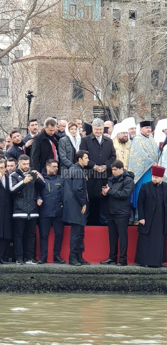 Την τελετή παρακολούθησε και ο πρόεδρος της Ουκρανίας