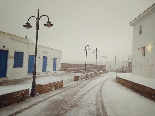 ΧΙόνισε το πρωί σε Στενή, Αρνάδο και Πεντόστρατο