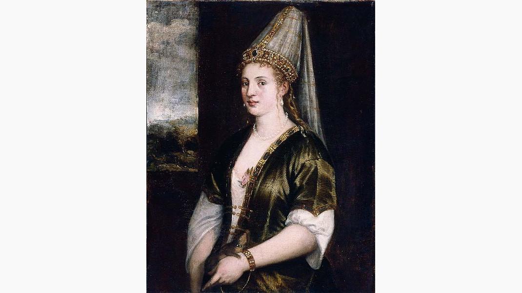 Πορτρέτο της Χουρέμ από τον Ιταλό ζωγράφο Τιτσιάνο, 1550