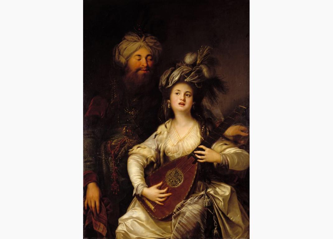 Πορτρέτο της Χουρέμ και του Σουλεϊμάν από τον Γερμανό ζωγράφο Anton Hickel