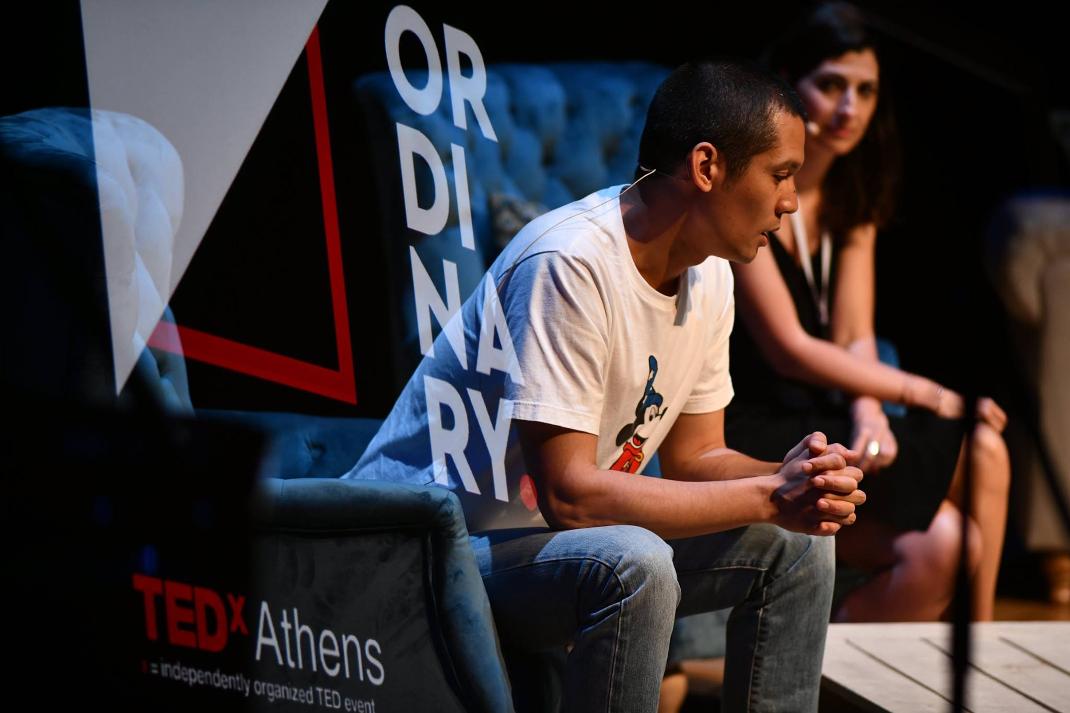 O Σωτήρης Κοντιζάς/ Φωτογραφία: TEDxAthens/ Facebook