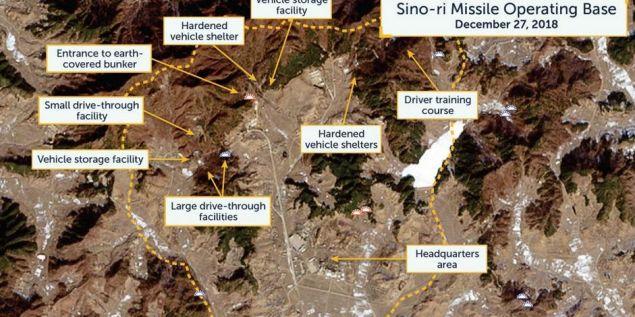 Δορυφορική φωτογραφία της μυστικής βάσης Sino-Ri, που ελήφθη στις 27 Δεκεμβρίου του 2018 (Φωτογραφία: CSIS)