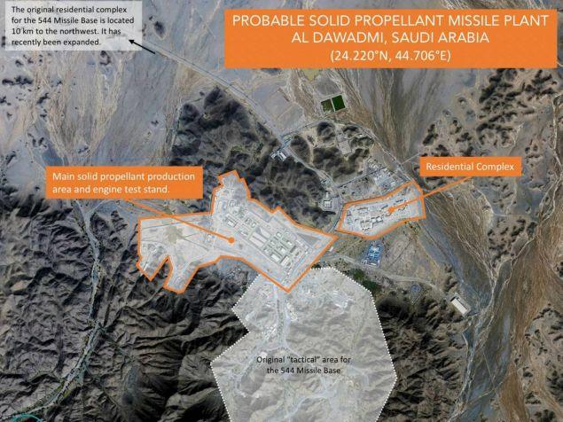 Δορυφορικές φωτογραφίες της βάσης φαίνεται ότι δείχνουν εγκαταστάσεις παραγωγής και δοκιμής πυραύλων (Φωτογραφία: Planet Labs via AP)
