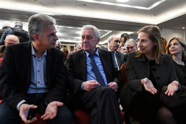 Ο Σπύρος Δανέλλης με Φώτη Κουβέλη και Μαριλίζα Ξενογιαννακοπούλου
