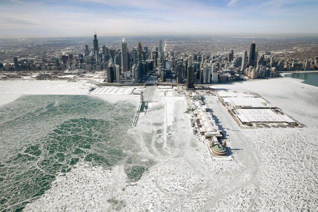 Παγωμένη πολιτεία το Σικάγο /Getty