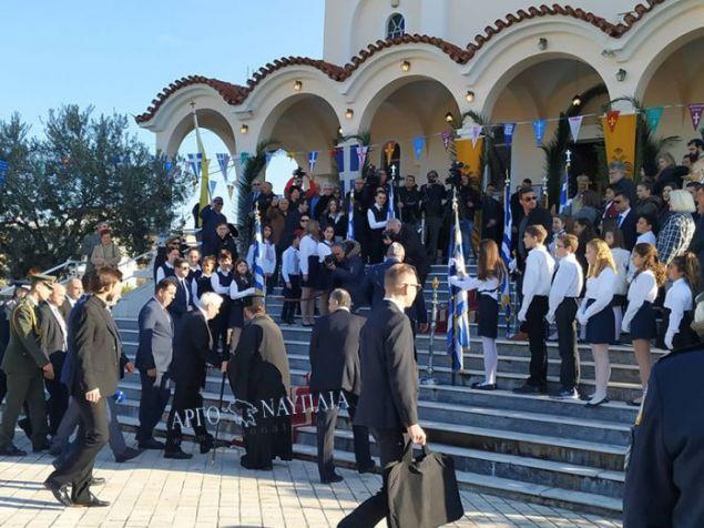 Ο Πρόεδρος της Δημοκρατίας εφτασε νωρίς το πρωί στην πόλη του Ναυπλίου