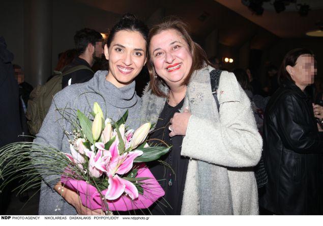 H Ελισάβετ Κωνσταντινίδου με την κόρη της