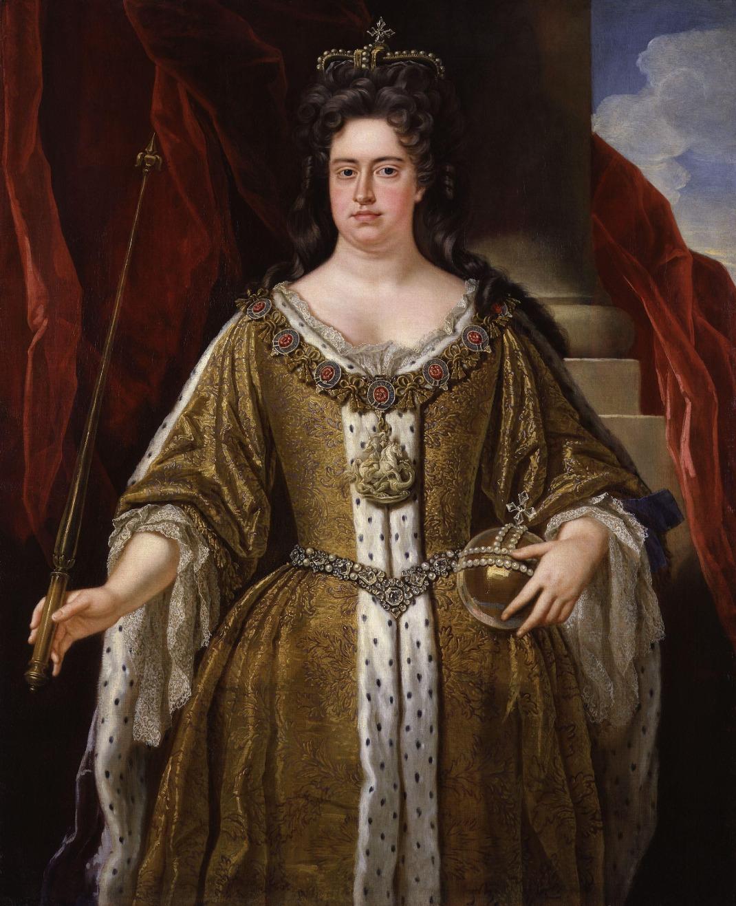 H βασίλισσα Άννα, πορτρέτο του John Closterman, 1702/ Φωτογραφία: WIkipedia