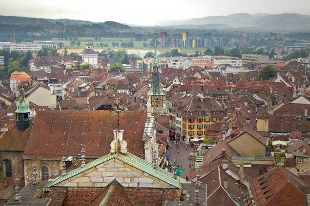 Άποψη της πόλης από ψηλά