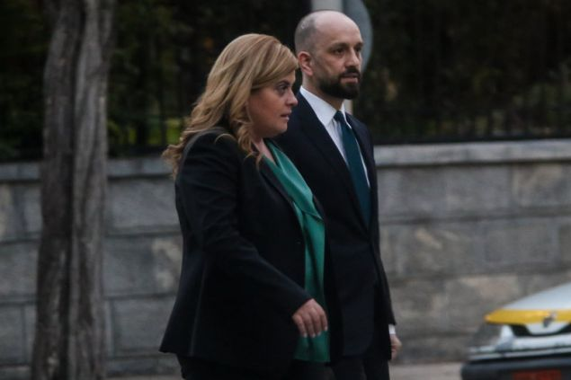 Η Ελευθερία Χατζηγεωργίου, νέα υπουργός Μακεδονίας-Θράκης και ο υφ. Εργασίας Κ. Μπάρκας