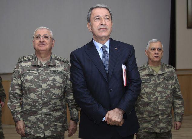 Ο Τούρκος υπουργός Αμυνας Χουλουσί Ακάρ / Φωτογραφία: AP Images