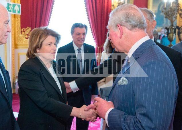 Ο διάδοχος του Βρετανικού θρόνου υποδέχεται την Κορίν Μετζελόπουλος
