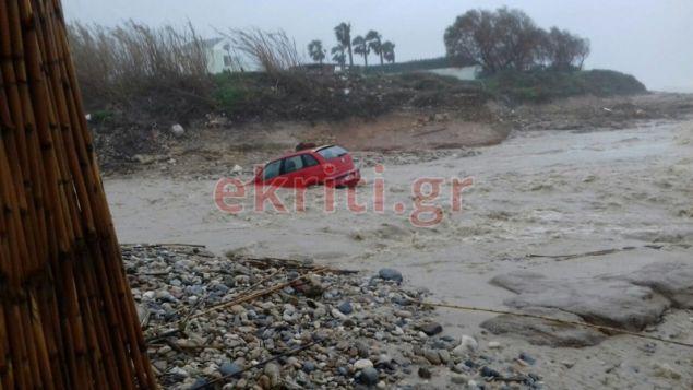 Ενας ακόμη οδηγός κινδύνευσε στην Κρήτη